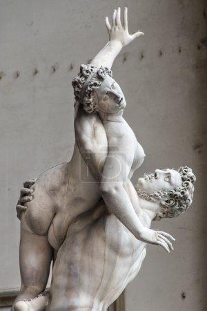 Statue of Ratto delle Sabine, Loggia de' Lanzi, Piazza della Sig