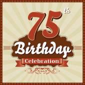 75 Years celebration 75th happy birthday retro style card