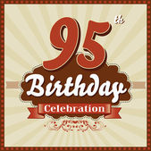 95 Years celebration 95th happy birthday retro style card
