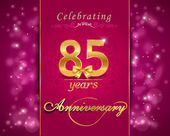 85 year anniversary celebration sparkling card 85th anniversary vibrant background - vector eps1