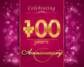 100 year anniversary celebration sparkling card 100th anniversary vibrant background - vector eps10