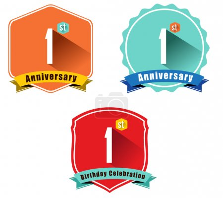 1st anniversary decorative emblem