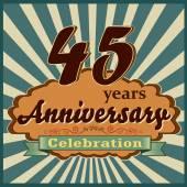 45 years anniversary