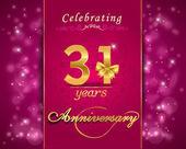 31 year anniversary celebration sparkle design