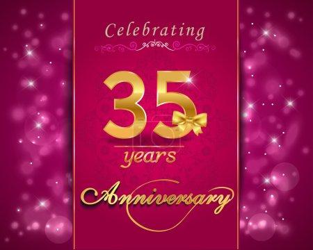 35 year anniversary celebration sparkling card