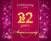 22 year anniversary celebration sparkling card 22st anniversary vibrant background - vector eps10