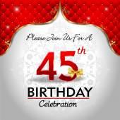 Celebrating 45 years birthday