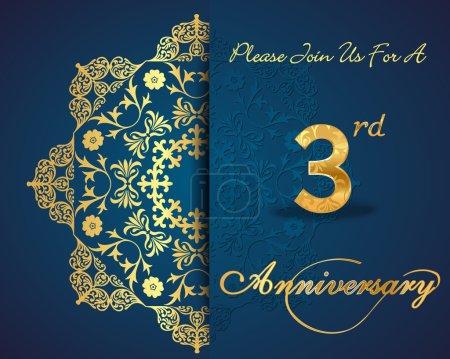 3 year anniversary celebration pattern