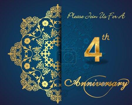 4 year anniversary celebration pattern
