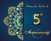 5 year anniversary celebration pattern