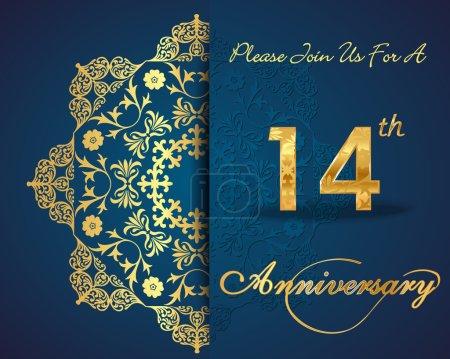 14 year anniversary celebration pattern