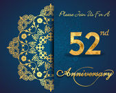 52 year anniversary celebration pattern