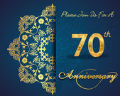 70 year anniversary celebration pattern