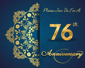 76 year anniversary celebration pattern