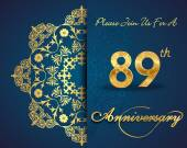 89 year anniversary celebration pattern