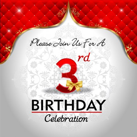 Celebrating 3 years birthday