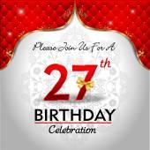 Celebrating 27 years birthday