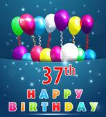 37 year Happy Birthday Card