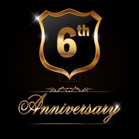 6 year anniversary golden label