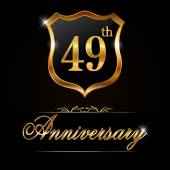 49 years anniversary golden label
