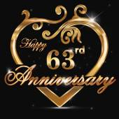 63 year anniversary golden heart
