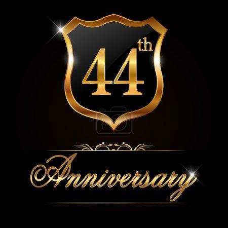 44 year anniversary golden label