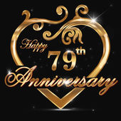 79 year anniversary golden heart