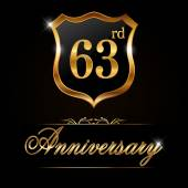 63 year anniversary golden label