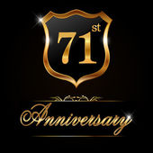 71 year anniversary golden label