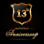 13 year anniversary golden label