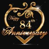 84 year anniversary golden heart