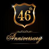 46 year anniversary golden label