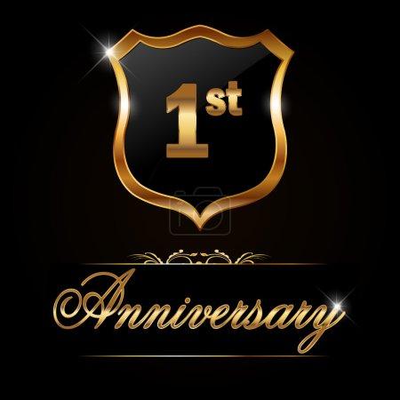 1 year anniversary golden label