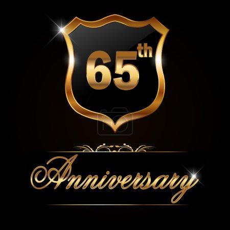 65 year anniversary golden label