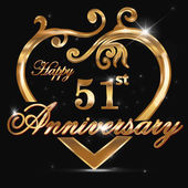 51 year anniversary golden heart