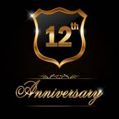 12 year anniversary golden label