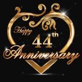 44 year anniversary golden heart