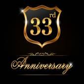 33 year anniversary golden label