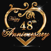 48 year anniversary golden heart