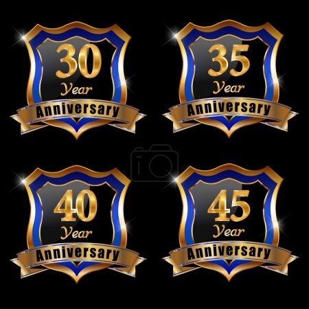 Set of anniversary elements