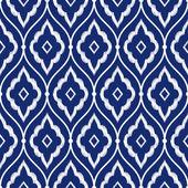 Seamless porcelain indigo blue and white vintage persian ikat pattern vector
