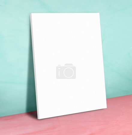 Blank white paper poster
