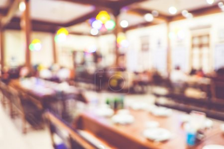 Customer at restaurant blur background