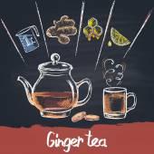 Zázvorový čaj v konvici