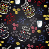fruits and berries smoothies pattern