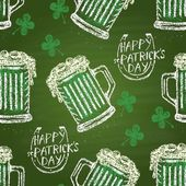 Seamless pattern of mug with green ale
