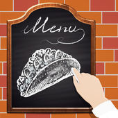 Chalk painted tacos
