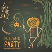 Halloween párty plakát