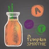 healthy pumpkin smoothie with vitamins