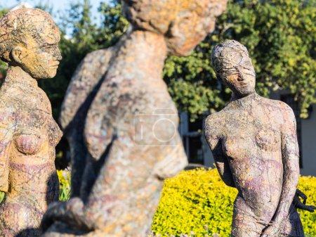 Sculptures of life size women